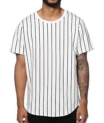 Elwood Stripe Curved Hem T-Shirt