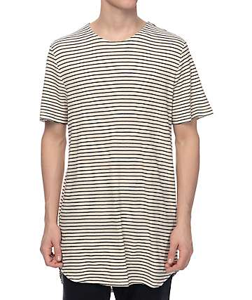 Elwood Tan & Black Stripe Thermal Tall T-Shirt