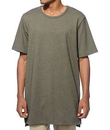 Elwood Terry Split Hem Knit Long T-Shirt