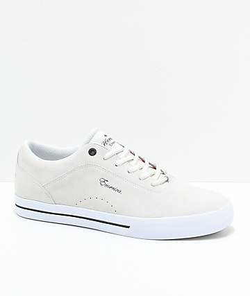 Emerica Herman G-Code Re-Up White & White Skate Shoes