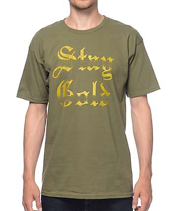 Emerica Olde Stay Gold Olive T-Shirt