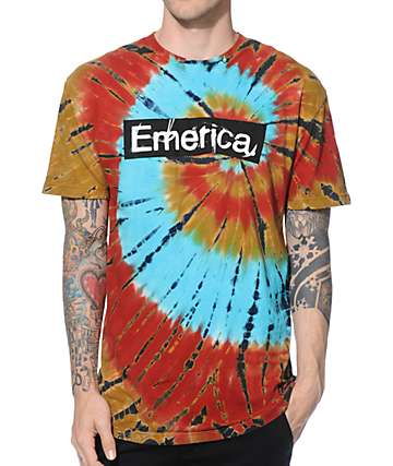 Emerica Pure Sticker Tie Dye T-Shirt