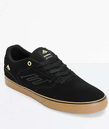 Emerica Reynolds Vulc zapatos de skate en negro y goma