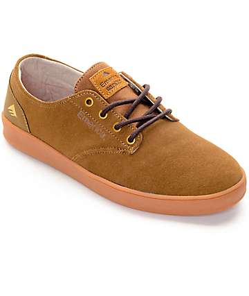 Emerica Romero Laced Brown & Gum Skate Shoes