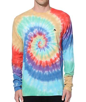 Emerica Team Combo Tie Dye Long Sleeve T-Shirt