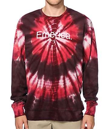 Emerica Tri Tripp Tie Dye Crew Neck Sweatshirt