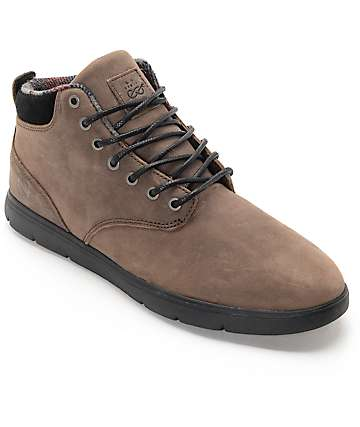 Emerica Wino Cruiser HLT x Eswic Brown Leather Skate Shoes