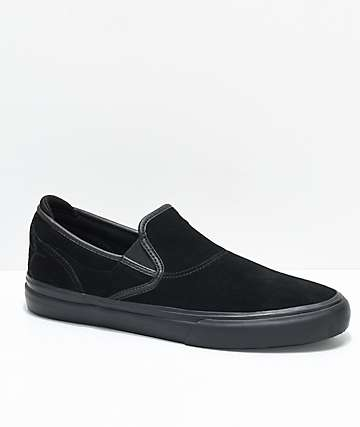Emerica Wino G6 Black Widow Slip-On Skate Shoes
