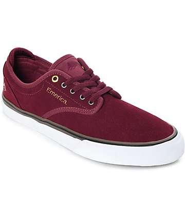 Emerica Wino G6 zapatos de skate de ante en blanco y color vino