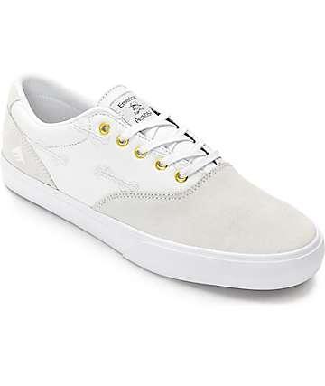 Emerica x Hard Luck Provost Slim zapatos blancos de skate