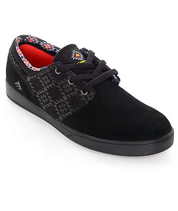 Emerica x Psockadelic Figueroa Black Skate Shoes