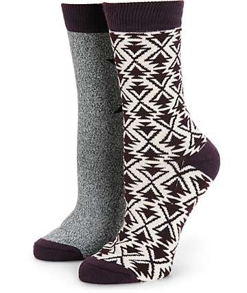 Empyre 2 Pack Arrow & Speckle Crew Socks