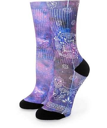 Empyre 2 Pack Galaxy Bandana Crew Socks