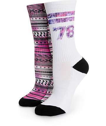 Empyre 2 Pack Team Galaxy Crew Socks