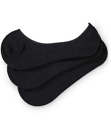 Empyre 3-Pack Black No Show Socks