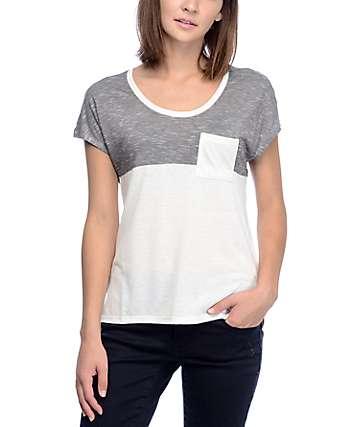 Empyre Abbott camiseta en bloque de color blanco