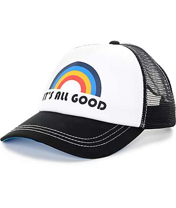 Empyre All Good Black & White Trucker Hat