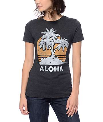 Empyre Aloha Crew Neck Black T-Shirt