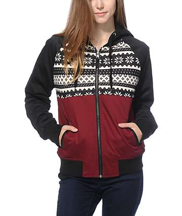 Empyre Amari Blackberry Fair Isle Jacket