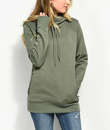 Empyre Anneleen Tech Fleece Green Hoodie