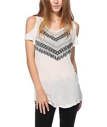 Empyre Antonio Feather Cold Shoulder T-Shirt