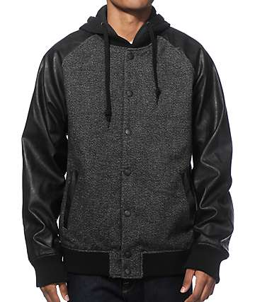 Empyre Archived Tweed Varsity Jacket
