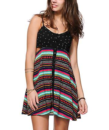 Empyre Arielle Mix Print Dress