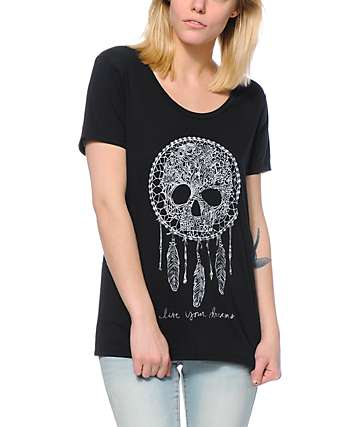 Empyre Aryannah Skull Dream Black Tee