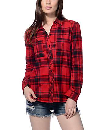 Empyre Ashton Wild Red & Black Flannel