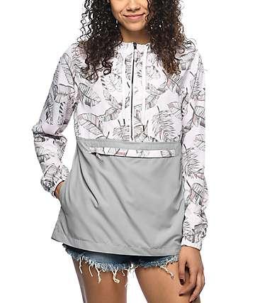 Empyre Aveline chaqueta cortavientos en gris y color malva