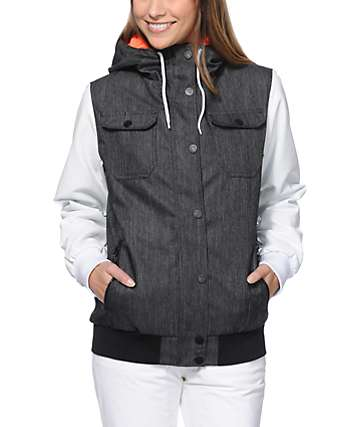 Empyre Bad Beat Charcoal Denim 10K Snowboard Jacket