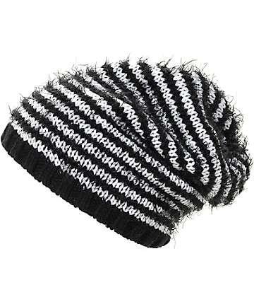 Empyre Bailey gorro suelto rayado en blanco y negro