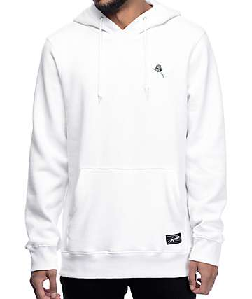 Empyre Baseline Embroidered White Hoodie