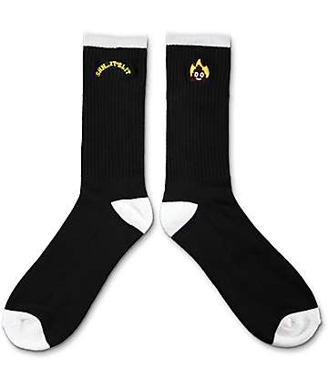 Empyre Beep Black & White Crew Socks