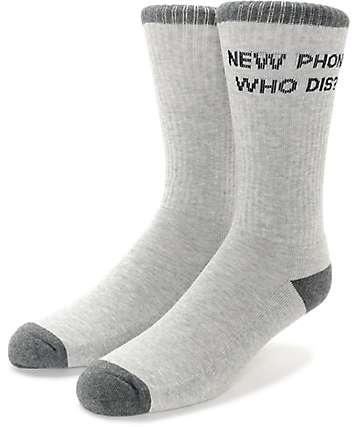Empyre Beep Mismatch Grey Crew Socks