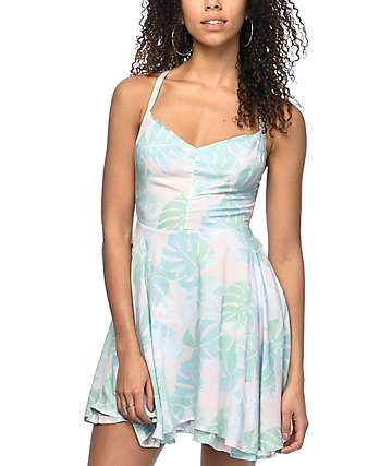 Empyre Bellamy Pastel Palm Dress