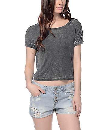 Empyre Benson Roll Sleeve Grey T-Shirt