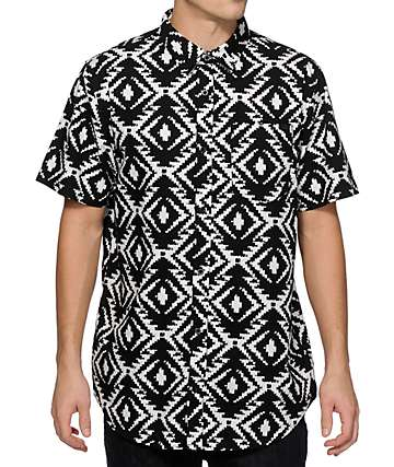Empyre Big Bali Ikat Button Up Shirt