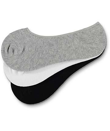 Empyre Black, Grey & White No Show Socks 3-Pack
