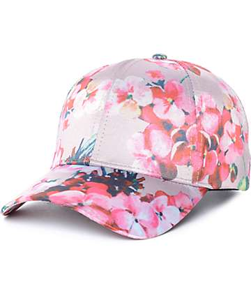 Empyre Blossom gorra béisbol de satín rosa