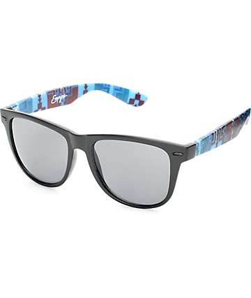 Empyre Blue & Red Striped Tribal Classic Sunglasses