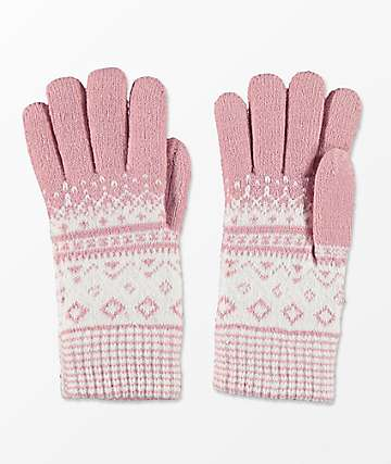 Empyre Blush Chenille Gloves