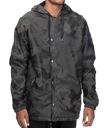 Empyre Bounty Camo Printed Suede Hooded Jacket