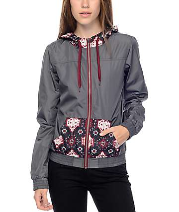 Empyre Bowery Charcoal Tribal Windbreaker