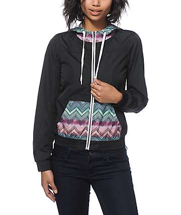 Empyre Bowery Chevron & Black Windbreaker Jacket