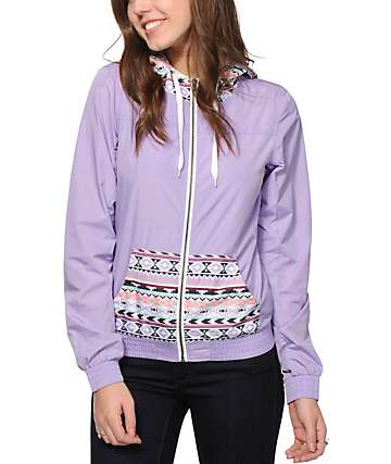 Empyre Bowery Lavender & Tribal Windbreaker Jacket