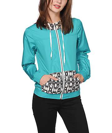 Empyre Bowery Tribal & Turquoise Windbreaker Jacket