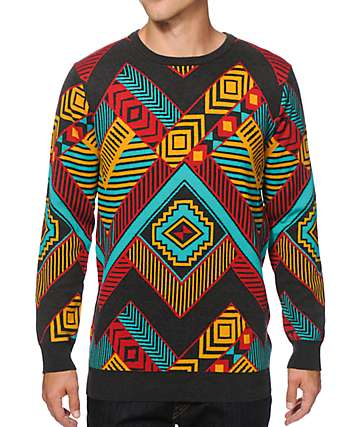 Empyre Box Step Intarsia Crazy Sweater