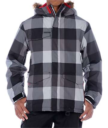 Empyre Boys Breach Plaid Snowboard Jacket
