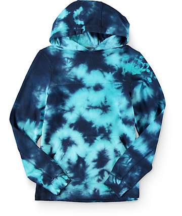 Empyre Boys Compass Bright Blue Tie Dye Hoodie
